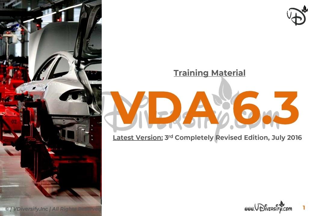 VDA 6.3_Training Material | In-Depth Process Audit | VDA-QMC | In PDF/PPT | Slide Share | VDiversify.com