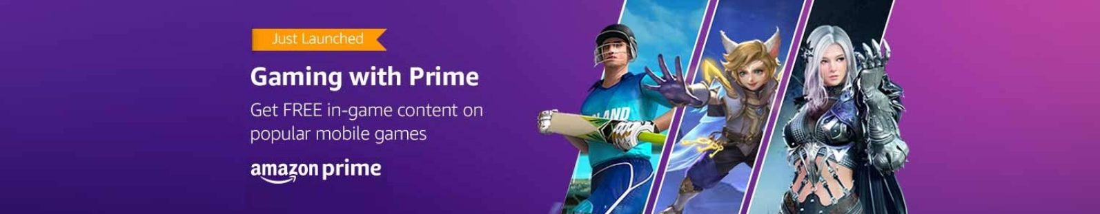 Amazon's Prime Gaming Pack In India, Free In-Game Content Exclusively For Prime Subscribers_Check Out