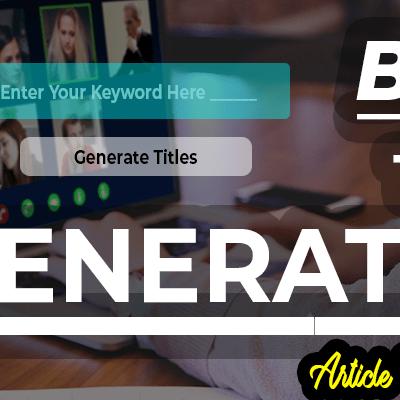 Article Title Generator or Blog Title Generator, VDiversify.com