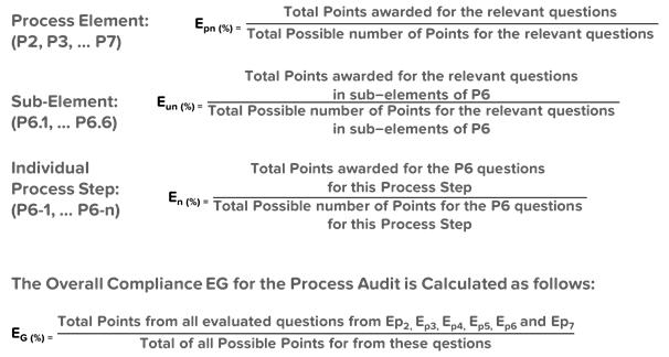 VDA 6.3 Process Audit Sub Elements of P6